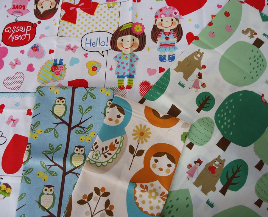 Novedad en la tienda telas japonesas fat quarters - Telas infantiles online ...